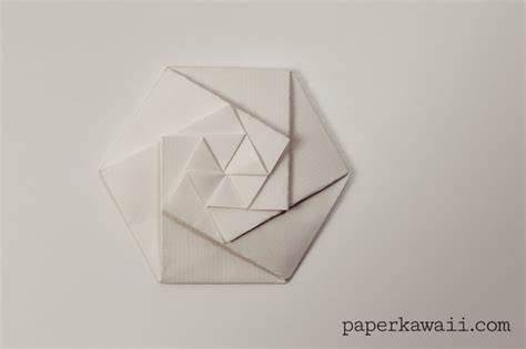 Hexagonal Origami - origami hexagonal envelope tutorial paper kawaii