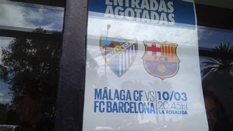 entradas para el malaga sold out en el estadio de la rosaleda