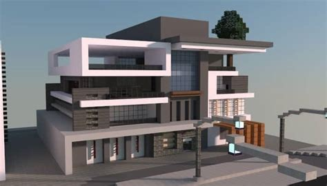 modern box house box modern house minecraft building inc