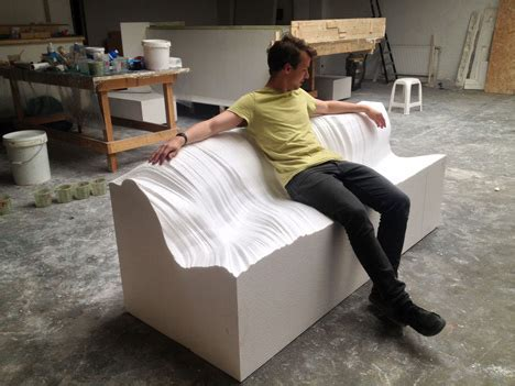 how to cut upholstery foam martijn rigters sofa is cut from blocks of foam using hot