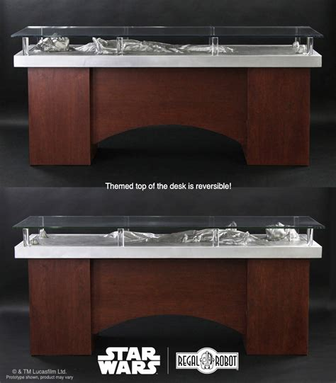 star wars desk l han solo carbonite desk regal robot
