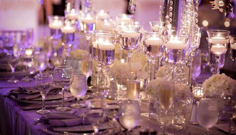 wedding table settings purple purple wedding inspiration themes designer chair covers to go