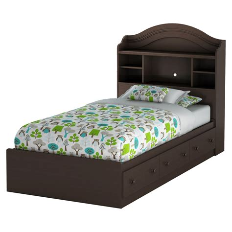 bookcase headboard with drawers summer breeze twin mates bed 3 drawers bookcase