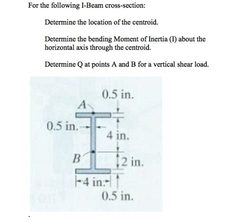 moment of inertia of i section solved for the following i beam cross section determine