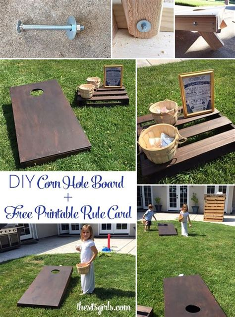 make your own bean bag toss diy corn board for tossed and