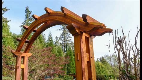 arched pergola building time lapse youtube