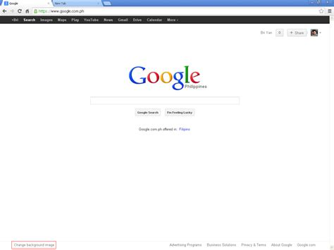 Google Wallpaper Change | how to change google browser background image howtoquick net
