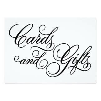 cards and gifts sign template wedding sign gifts on zazzle