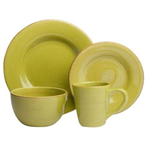 Set Apple Green tag sonoma 16 dinnerware set in apple green