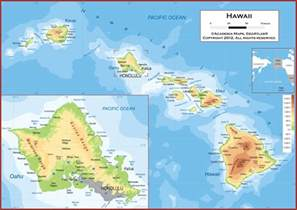 map of hawaii large color map fotolip rich image and