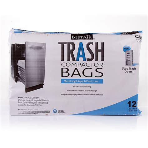 garbage compactor bags bestair trash compactor bags 16 d x 9 w x 17 h
