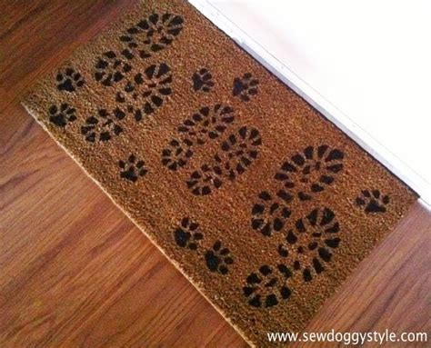 paw print rug sew ikea rug just add paw prints