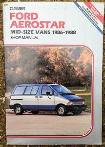 online car repair manuals free 1988 ford aerostar lane departure warning 1986 1987 1988 ford aerostar mini van repair manual by clymer ebay
