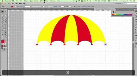 draw umbrella illustrator draw an umbrella in adobe illustrator youtube