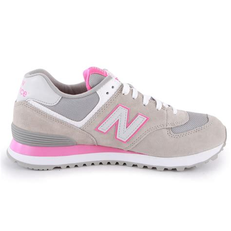 pink and grey sneakers new balance 574 womens trainers in grey pink