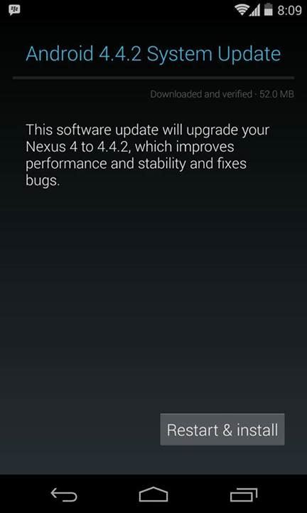 android 4 4 2 update nexus devices now getting the android 4 4 2 update