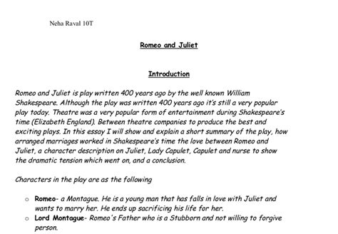 theme of love in romeo and juliet analysis introduction to romeo and juliet essay introduction of