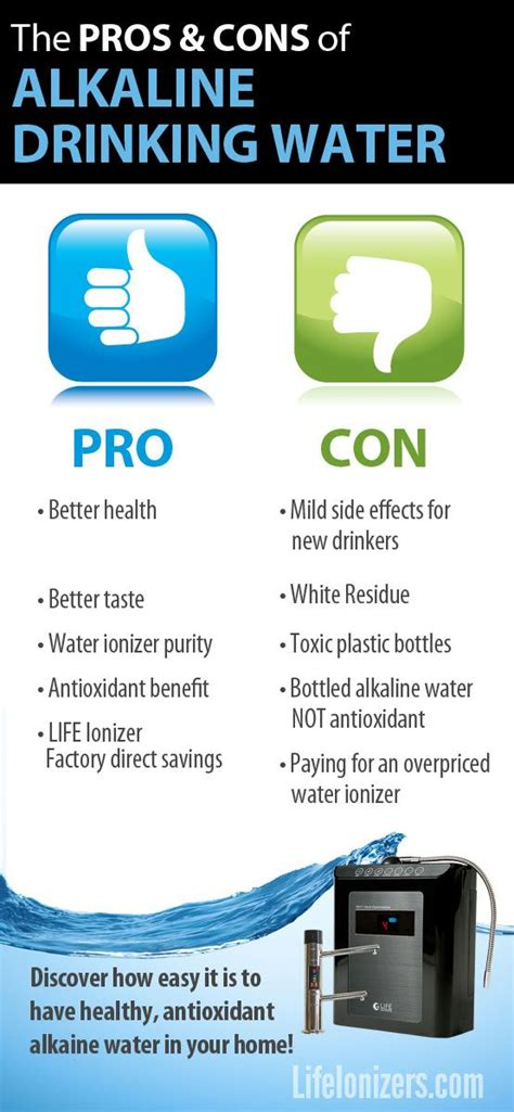 Detox Water Pros And Cons by Here Are The Alkaline Water Pros And Cons That