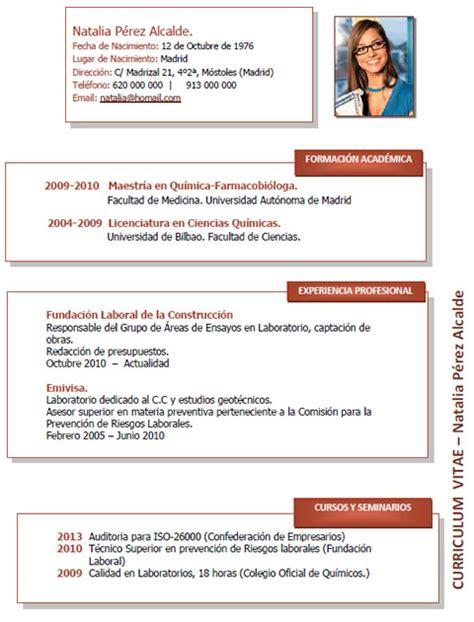 Modelo Curriculum Vitae Ingeniero Agronomo Elaboraci 243 N Curriculum Cl 225 Sico Plantillas De Cv Para Enviar A Empresas Cvexpres