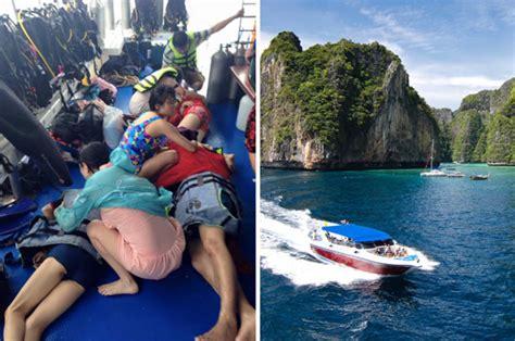 thailand news boat crash thailand boat crash koh phi phi tourists killed in krabi