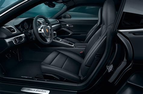 porsche black interior 2016 porsche cayman black edition shows stealth