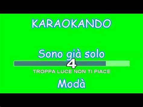 karaoke italiano sono gi 224 mod 224 testo