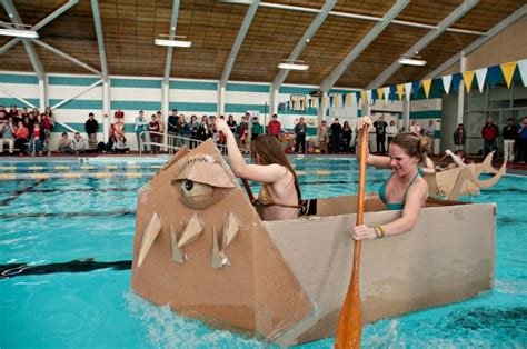cardboard boat project high school 17 best images about cardboard boat regatta race on