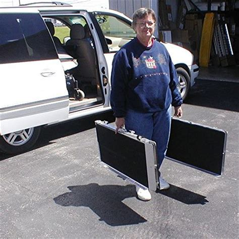 "96"" Portable Folding Aluminum Wheelchair & Scooter Ramp"