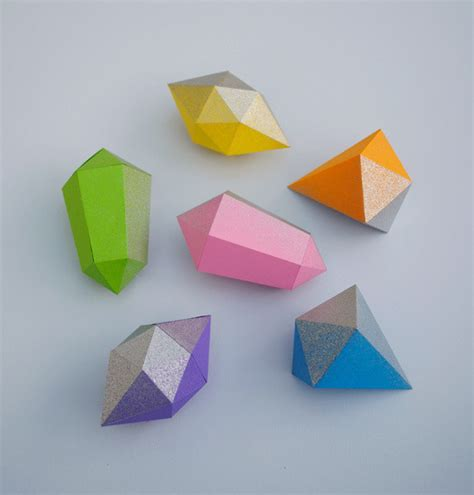 Origami Gem - paper gems 183 how to fold an origami gem 183 papercraft and