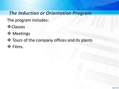 induction and orientation objectives traininng and development
