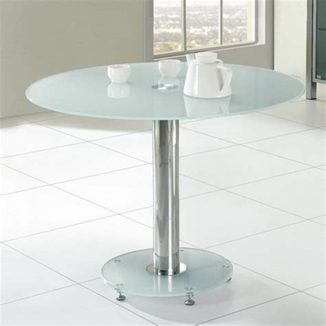 glass dining table small 105cm
