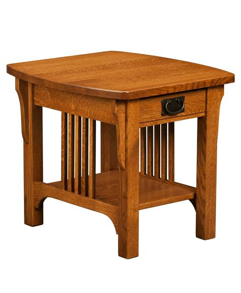 mission accent table craftsman mission end table amish direct furniture