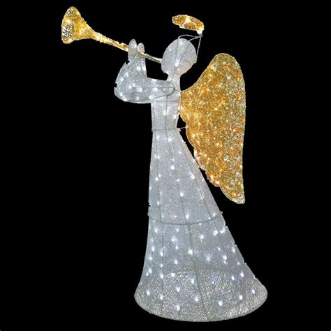 angel decorations for home national tree company 60 in angel decoration with led lights df 210004w the home depot