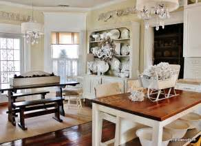 Farmhouse Kitchens Pictures by Silver And White Christmas Decorating Thistlewood Farm
