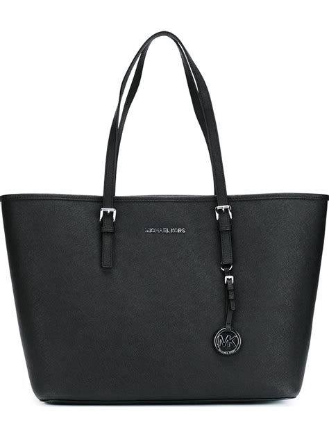 Michael Kors Jet Set Travel lyst michael michael kors jet set travel tote bag in black