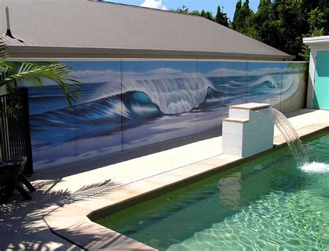 Fence Backyard Daniel Joyce Design Mural Projects Wall Pool Fence