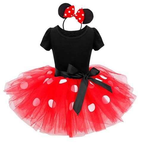 Ailubee Piyama Minnie Mouse Kidsz baby minnie mouse tutu dress with ear headband carnival fancy costume ballet