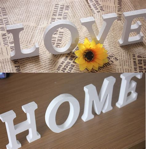 home letters decoration letter 3d wall sticker wooden word letter