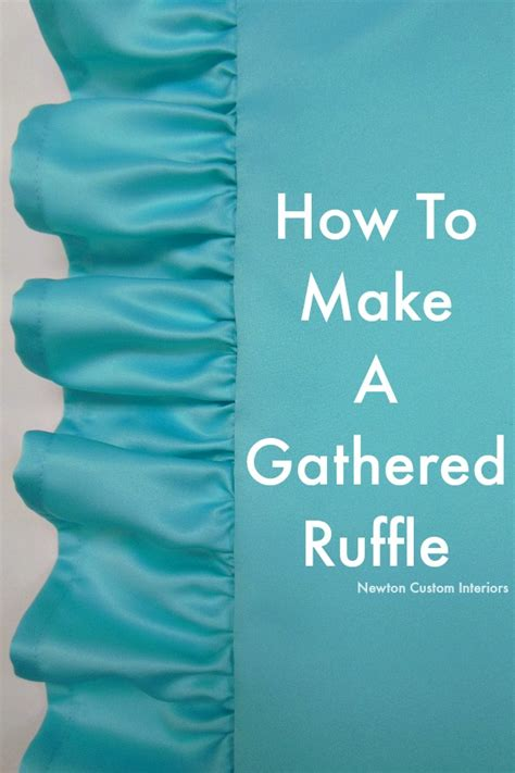 How To Make Pillows For by How To Make A Gathered Ruffle Newton Custom Interiors