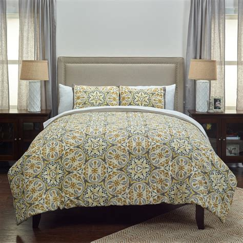 gold pattern bedding rizzy home gray gold pattern 3 piece queen bed set