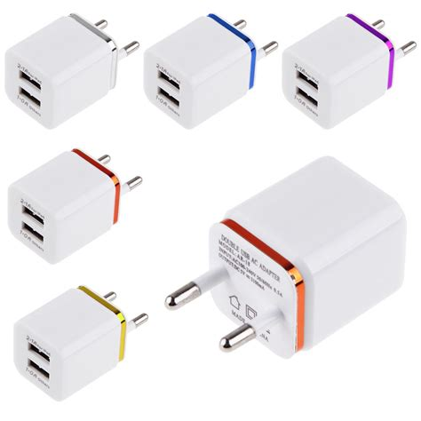Samsung Travel Adapter Charge Samsung 1a Kepala 2 Indo Oem 2 1a 1a dual 2 port usb wall adapter charger eu for