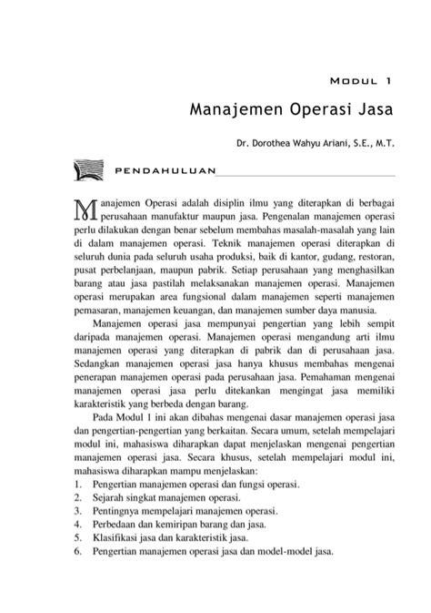 desain jasa dalam manajemen operasional bmp ekma4369 manajemen operasi jasa