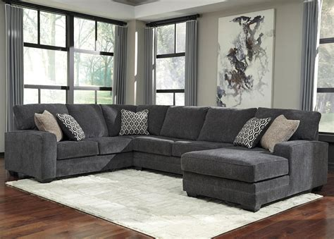 miskelly living room furniture benchcraft tracling contemporary sectional with right chaise miskelly furniture sectional sofas