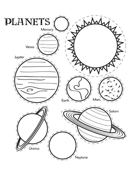 Solar System Craft Coloring Pages And Crafts