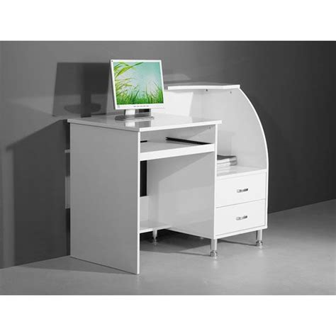 White Compact Computer Desk Mars Compact White High Gloss Computer Desk Computer Desk Desks High Gloss And