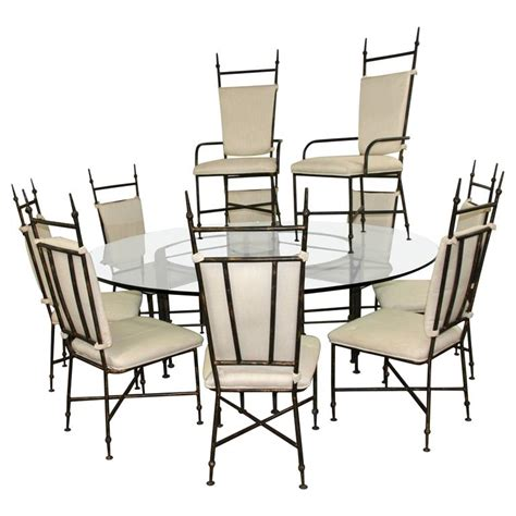 iron dining room chairs brutalist iron dining set with ten chairs for sale at 1stdibs