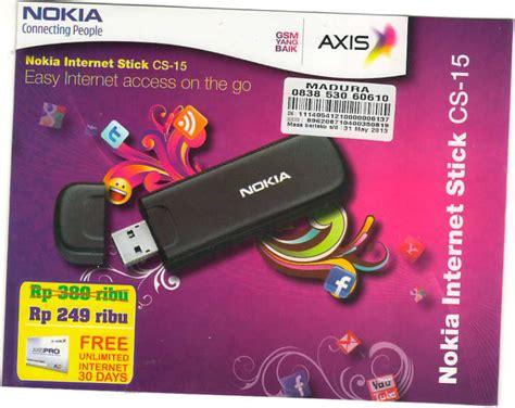 Modem Axis Gsm galer gadget promo modem axis nokia stick cs 15