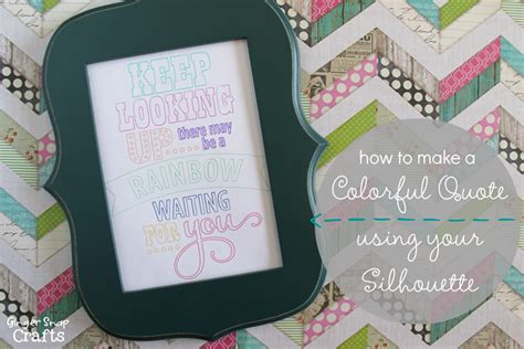 How To Make A Paper Snap - snap crafts how to make a colorful quote using