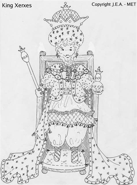 king xerxes coloring pages pin queen esther coloring pages on pinterest
