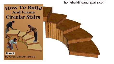 how to build a building how to build and frame curved circular stairway exle 5 from book youtube